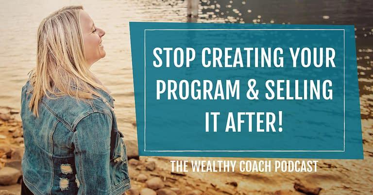 Stop Creating Your Program